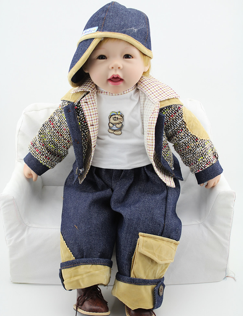 New arrival 24 inch soft vinyl reborn doll limited collection of children s holiday gift toy