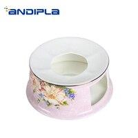 Pastoral Style Bone China Warm Coffee Stove Afternoon Tea Milk Candle Warmer Heater Garden Teapot Holder Base Shelf Accessories
