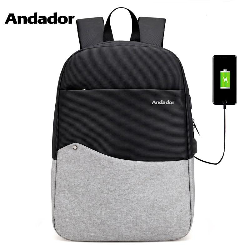 Los hombres de alta calidad paquete de viaje con carga usb moda estilo estudiante mochila para portátil de negocios viajar mochila bolsos de las mujeres