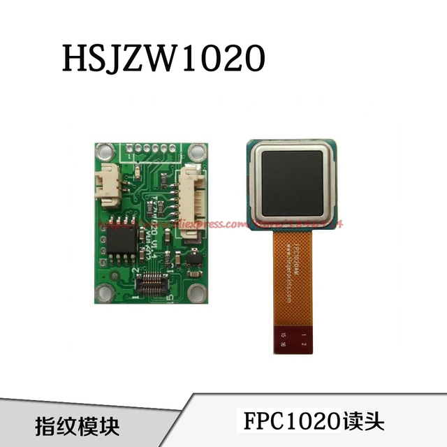US $66 0 |HSJZW1020 semiconductor fingerprint module Capacitive fingerprint  reader FPC1020 capacitive touch sensor-in Sensors from Electronic