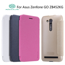 Case For Asus Zenfone GO ZB452KG case NILLKIN Sparkle Leather case flip cover phone cases + Package