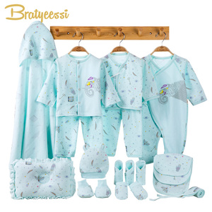 Image 2 - Elephant Newborn Baby Girl Clothes Cotton Print New Born Baby Boy Clothes Infant Clothing Baby Outfit Newborn Set
