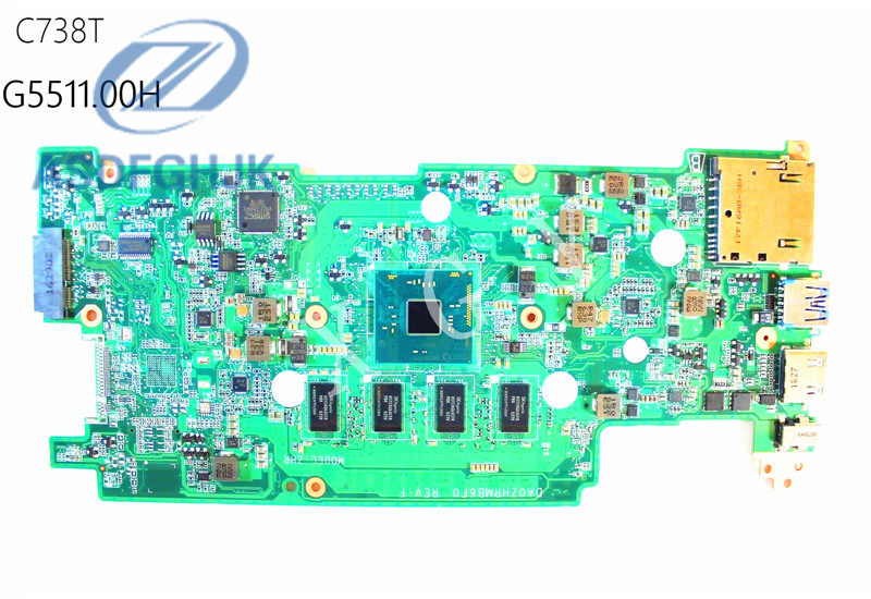 Laptop Motherboard DA0ZHRMB6F0 FOR font b Acer b font for Chromebook C738T Motherboard N3150 CPU 4GB