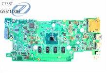 Laptop Motherboard DA0ZHRMB6F0 FOR Acer for Chromebook C738T Motherboard N3150 CPU 4GB RAM NB.G5511.00H NBG551100H 100% test ok
