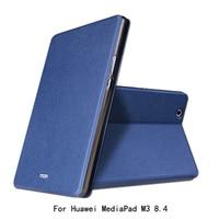 Dla Huawei MediaPad M3 8.4 cal Case MOFI Firm Ultra Cienkie PU Leather Folio Składany Stojak Case Dla Huawei MediaPad M3 8.4