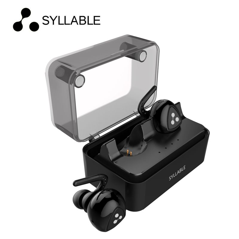 2017 Syllable D900 MINI D900S updated Version Stereo Bluetooth Earphone Headset Wireless Earbuds with Charge Box for iPhone 6 7