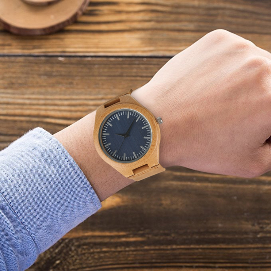 Handmade Wooden Clock Gifts Women Watches Leather Strap Casual Quartz Bamboo Wristwatch Mens Wooden Watches relogio feminino (28)