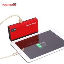 Pushidun-12v Портативный Multi-Функция Пусковые устройства аварийного Запасные Аккумуляторы для телефонов салона автомобиля запуска Батарея Зарядное устройство с ЕС AU США Великобритании