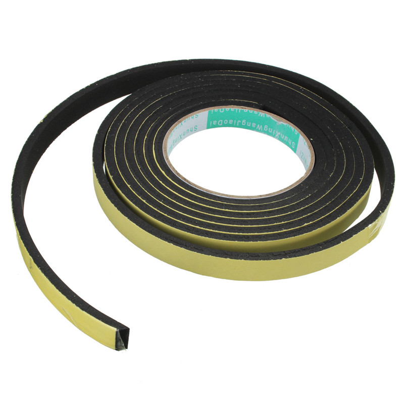 3 meter window door foam adhesive draught excluder strip sealing tape adhesive tape rubber. Black Bedroom Furniture Sets. Home Design Ideas