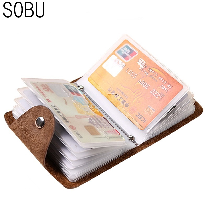 PU Leather Function 24 Bits Card Case Business Card Holder Pinkycolor Women Credit Passport Card Bag ID Passport Card Wallet H92