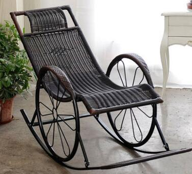 Cane rocking chair adult deck chair. Leisure chair. Rocking chair. the silver chair