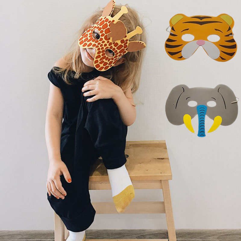 High Quality 12 pcs/lot New Fashion Handmade Children's Mask Animal Shape For Kids Party Decoration Mask Random Mixed-in Party Masks from Home & Garden