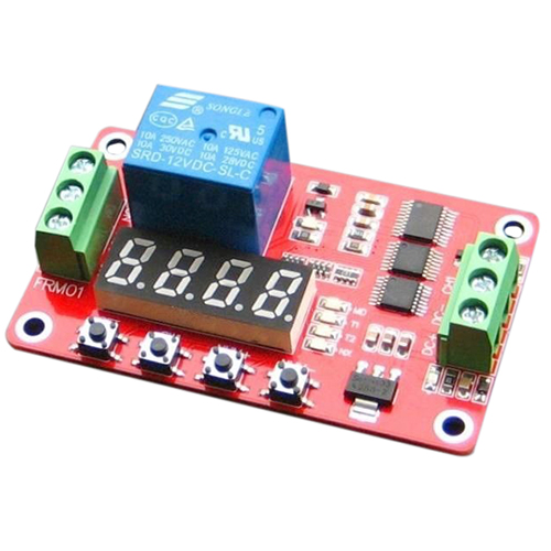 12V DC Self-lock Relay PLC Cycle Timer Module Delay Time Switch 12v timing delay relay module cycle timer digital led dual display 0 999 hours