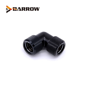 Image 5 - 4pcs/lots G1/4 thread Dual 90 Degree Rotary Fitting Adapter Rotating 90 Angle Adaptors use for OD12mm/14mm/16mm Hard Tube
