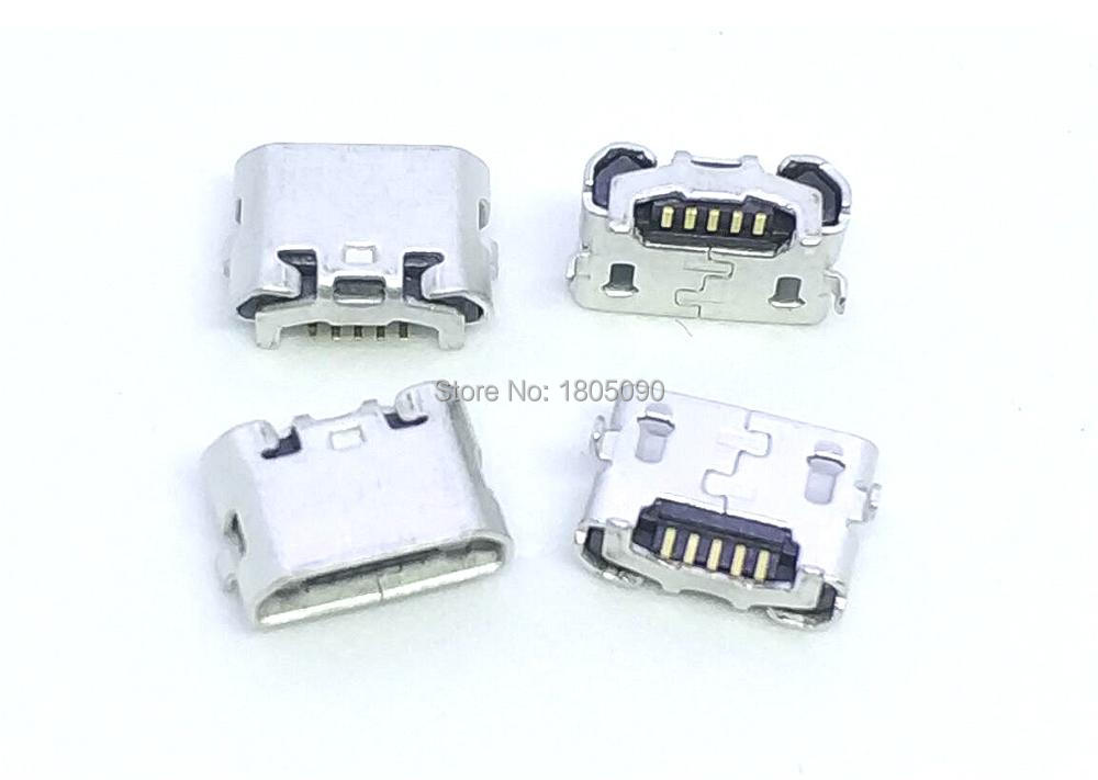 50pcs Micro USB 5pin Jack Reverse Ox Horn Charging Port Plug Socket Connector Mini Usb For Huawei 4X Y6 4A P8 C8817 Max Lite Pro
