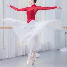 ballet skirt women chiffon long dance skirt dresses for women ballet tutu contemporary skirt ballet wear