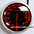 Blanco y rojo de Luz LED 60mm Stepper Motor BF Defi Enlace Meter Racing Car Oil Medidor De Temperatura