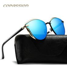 Fashion polarized sunglasses Women 2017 New Arrival Alloy Frame flat Cat Eye Sun glasses uv400 Eyewear