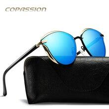 Frame Da Liga de moda óculos polarizados óculos de sol Das Mulheres 2017 Novo Chegada plana Cat Eye óculos de Sol uv400 Óculos de sol oculos de sol feminino