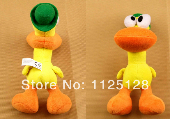 "Free Shipping 1pcs 22cm 8.7"" Stuffed animals Pocoyo Pato Duck Plush Toys for kids gift"