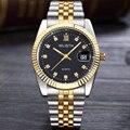 2017 wlisth marca dos esportes da forma dos homens do relógio de aço analógico quartz vestido relógio de pulso das mulheres fino calendário luxo casual senhora relógios
