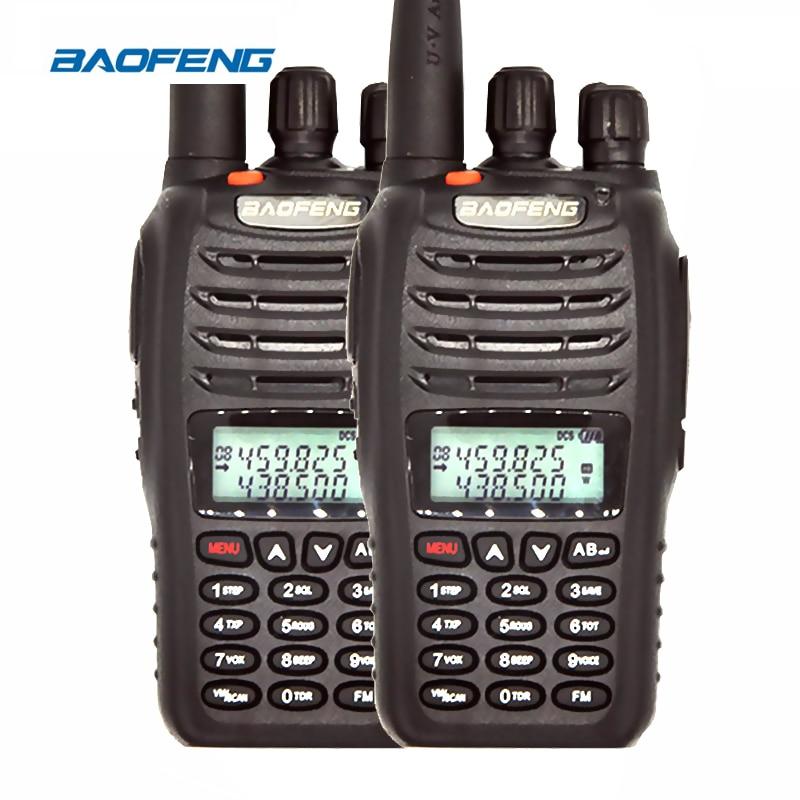 2 UNIDS Baofeng UV-B5 Walkie Talkie Portátil Transceptor FM Profesional UHV VHF Dual Band Dual Display VOX Radio de Dos Vías