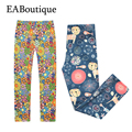 EABoutique 2017 New Spring Fashion cotton floral leggings flower printed girls leggings for 3-12 years old