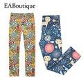 EABoutique 2017 Nueva Primavera de algodón de Moda leggings florales flor impresa polainas de las muchachas de 3-12 años de edad