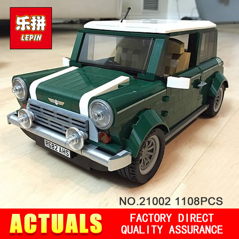 2016 new lepin 21002 technic series 1108Pcs car Model Building Kits  Blocks Bricks Toys Compatible With Jeep 10242 free shipping lepin 21002 technic series mini cooper model building kits blocks bricks toys compatible with10242