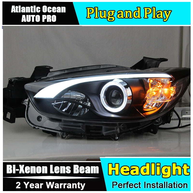 Car Styling For MAZDA CX-5 headlights 2011-2014 CX5 led headlight new cx-5 projector headlight HID KIT Bi-Xenon Lens амортизатор капота rival для mazda cx 5 2011 2017 2017 2 шт