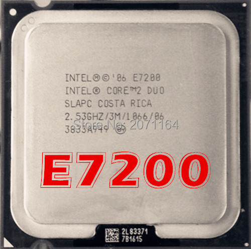 Бесплатная доставка для Intel Core 2 Duo E7200 775-контактный ПРОЦЕССОР 2.53 ГГц Настольного Компьютера