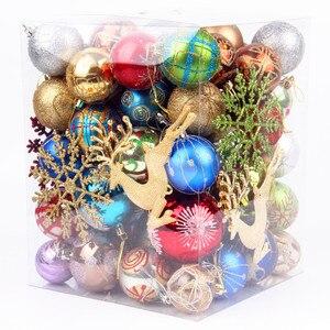 Image 5 - 70 יח\אריזה יפה מעורב חג מולד תליית קישוטי הניצוץ צבע כדור חג המולד עץ חג השנה החדשה קישוט