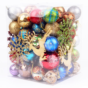 Image 5 - 70pcs/pack Beautiful Mixed Christmas Hanging Ornaments Shining Color Ball for Christmas Tree New Year Holiday Decoration