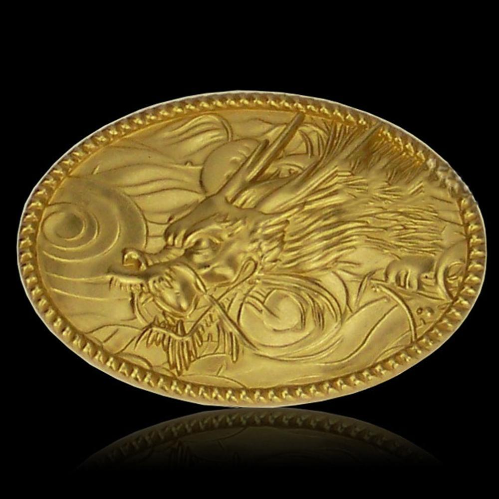 FAJARINA Men's Design 3D Dragon Head Animal Pattern Slide Styles Solid Brass Belt Buckle Only for 3.6-3.9cm Wide Belts BCK019