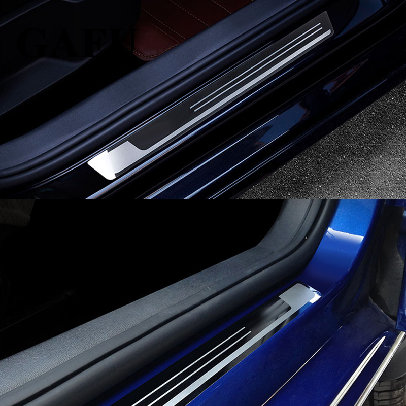 Image 4 - For TOYOTA COROLLA Altis 2014 2015 2016 2017 Door Sill Scuff Plate Guard Sticker Welcome Pedal Protector Car Styling Accessories-in Chromium Styling from Automobiles & Motorcycles