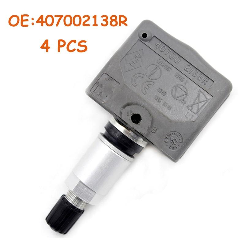 4 PCS OEM 407002138R 40700 2138R 8200086582 For Renault Laguna II Laguna II Grandtour TPMS Tire Pressure Sensor Monitor 433Mhz|Tire Pressure Alarm| |  - title=