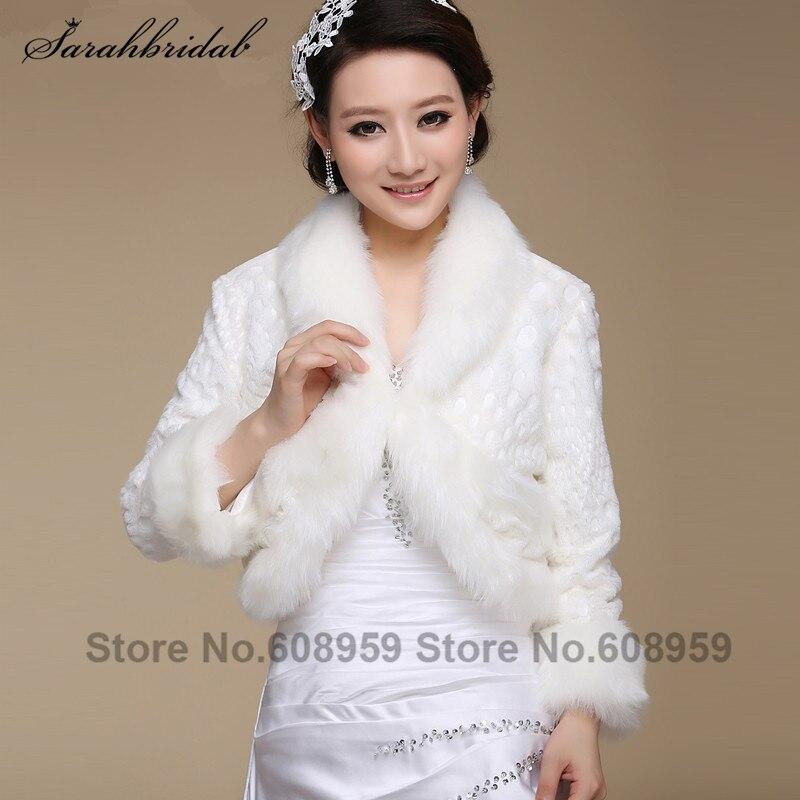ᗜ LjഃNueva chaqueta nupcial abrigo Cuero no Original Blanco wraps ...