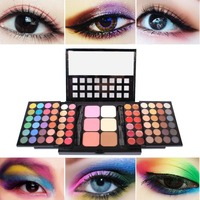 78 Colors Makeup Eye Shadow Palette Colorful Eyeshadow Shimmer Matte Colors Cosmetics Makeup Tool Kit