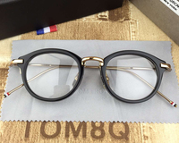 2018 Computer Eyeglasses Women Men High Quality Round Computer Glasses Frame Prescription Optical Eyewear Original Case