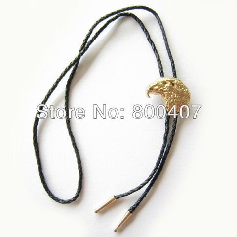 Retail Real Gold Plating Eagle Head Bolo Tie BoloTie BOLOTIE-WT136GD Brand New In Stock Free Shipping Karachi