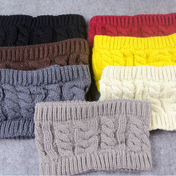 CUHAKCI Women Knitted Headband Winter Warmer Head Wrap Hairband for Ladies Acrylic Crochet Fashion Hair Band Accessories image