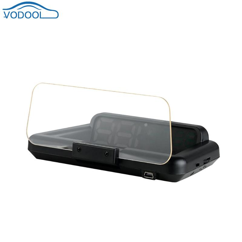 VODOOL Digital Led Car HUD Auto OBD2 OBD II EOBD Head Up Display Speed Warning System RPM Speedometer Projector speed warning system c500 car hud obd2 mirror hud head up display rpm speedometer projector