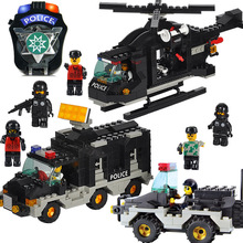 Model constructing kits suitable with lego metropolis police Riot police 3D blocks Educational mannequin constructing toys hobbies for kids