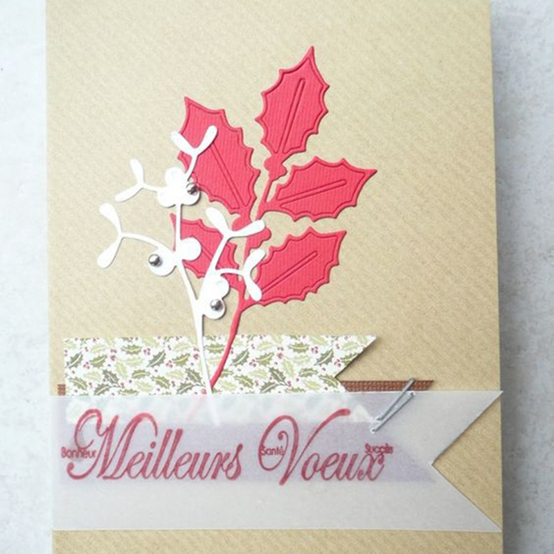 Leaves Metal Cutting Dies Embossing Stencils Stamps Diy Emboss Folders Paper Card Making Craft Supplies