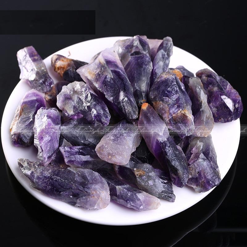 Peelings & Körperbehandlungen Bad & Dusche Natürliche Rock Lila Kristall Stein 100g 6 ~ 15 Cm