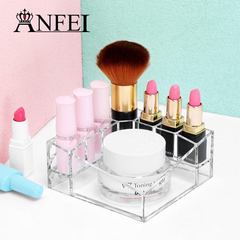 Tiszta rúzsállvány kozmetikai kijelző smink ecsetek kijelző - Szervezés és tárolás
