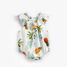 Cute printing Baby girl Rompers summer short sleeve Jumpsuits newborn infant toddler onesies clothes outfits 0-3T