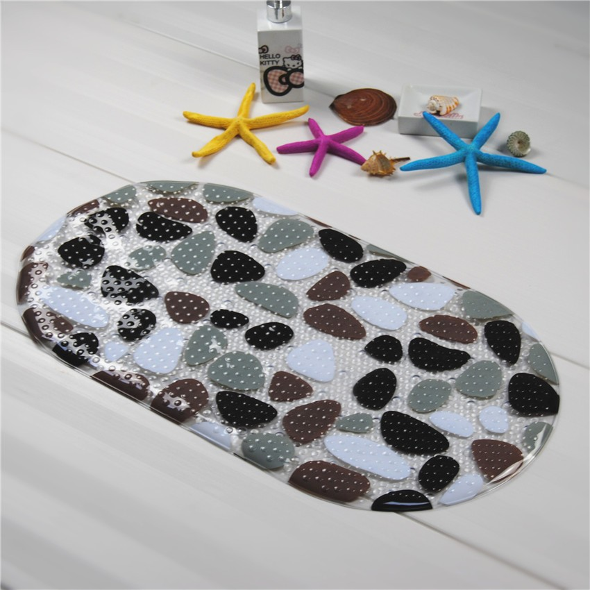 Pvc Non Slip Bath Mats Pebble Shower Anti Slip Bathroom And Toilet Mats For  Bathroom