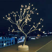 LED Tree Lights Battery/USB Powered Birthday Gifts Table Lamp Indoor Led string Light for Party Home Decoration Xmas tree