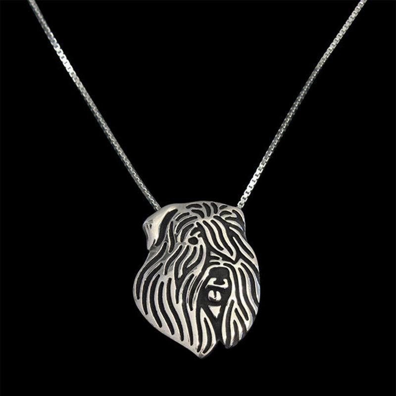 2018 Wholesale Vintage Alloy Bouvier Des Flandres Necklaces Lovers Jewelry Pendant Necklaces Drop Shipping